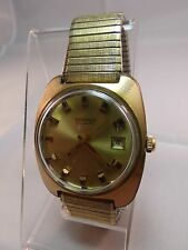 Vintage Benrus 14K EP Gold Tone Automatic Waterproof Watch~ WORKING