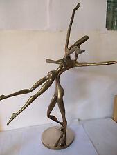 """SCULPTURE Bronze, """"Les Danseurs"""", signée YVES LOHE, (côté Art Price), Haut 56 cm"""