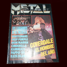 WHITESNAKE DAVID COVERDALE Metal Magazine #81 Argentina 1987