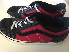 VAN'S Red Black Check Canvas Sneaker shoe size 7 Vans Shoes Sneakers Skater