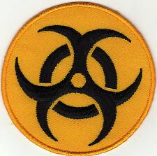 Aufnäher Bügelbild Iron on Patches Biohazard Biologie Gefahr a2r6