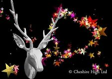 Aluminium Stags Head, Exceptional 24 inch high, Bright Polished Wall Mount