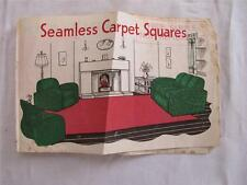 VINTAGE 1930's ART DECO CARPET SQUARES ADVERTISING LEAFLET & ORDER FORM