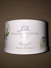 WOODS OF WINDSOR ENGLAND Muguet LILY OF THE VALLEY Dusting Powder 3.5 oz/100g