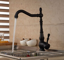 Classic Kitchen Faucet Oil Rubbed Bronze Single Handle Hole Vessel Sink Mixer