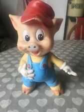 Vintage Walt Disney Productions Three Little/Porky Pig Toy With Elephant Stamp
