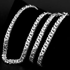 925 ITALY STERLING SILVER 2.5MM CURB MENS CHAIN Length 22in