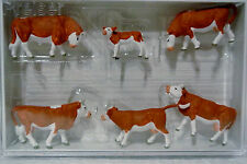 Preiser 10146 HO 1/87 Cows with Brown Markings New C-9 OB 2014