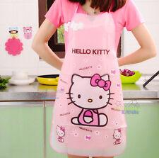 Super Cute Hello Kitty Women Waterproof Kitchen Dining Bar Apron Pinafore