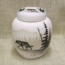 Cedar Mesa Native American Made Pottery High Country Tracks Ginger Jar with Lid