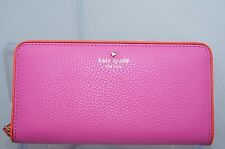 Kate Spade Pink Lacey Cobble Hill Wallet Zip Clutch Bag Brpapy Leather NWT