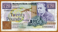 Ireland, Northern Bank, 20 pounds, 1990, P-195 (195b), F   Sale !!!