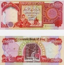 1X25,000 New Iraqi Dinar Note/Currency Collection 25K Total Dinar