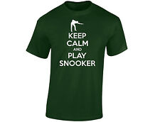 Keep Calm And Play Snooker Mens Funny T-Shirt (12 Colours)