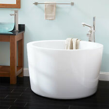 "41"" Siglo Round Japanese Soaking Tub No Faucet Holes"