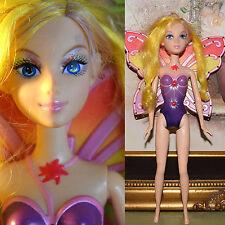 """Mattel Barbie 11.5"""" RARE ELINA DOLL Yellow Hair Magic of the Rainbow Wings CUTE!"""