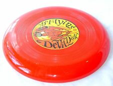 """NEW 9"""" FLYING DEVIL DISK RED FRISBEE OUTDOOR FUN TOY HOM"""