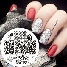Nagel Schablone Nail Art Stamp Stamping Template Plates BORN PRETTY 20