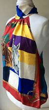 Ralph Lauren Scarf Style Glamorous Equestrian Style Halterneck Top BNWT UK 18