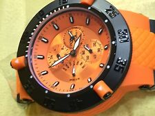 New Invicta Men's Orange Subaqua Chrono Day Retrograde GMT  Dial & Strap Watch