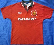 MANCHESTER UNITED home shirt  UMBRO 1994-1996 SIZE Y Youth XL.BOYS ( XS adults)