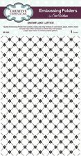 CREATIVE EXPRESSIONS A4 Embossing Folder by Sue Wilson SNOWFLAKE LATTICE  EF-020