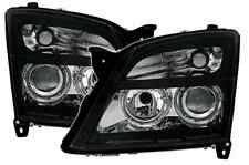 Vauxhall Vectra C 02-05 Angel Eye Black Projector Headlights Lighting Lamp Part