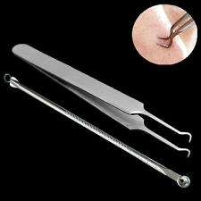 Blackhead Pimples Acne Blemish Comedone Needle Bend Curved Extractor Remover Set