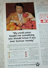 1973 ad page - sexy CHAD EVERETT actor TV star Credit Union banking OLD ADVERT