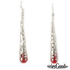 Bijou Créateur Mariage Victorien Celtique Mode Boucle oreille cône-cristal rouge