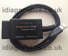FIATECUSCAN MULTIECUSCAN - MODIFIED ELM FIAT ALFA DIAGNOSTIC CABLE OBD2 CAN ECU*