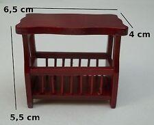 porte revues en bois miniature,maison de poupée,vitrine,meuble salon,bureau *M1