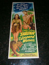 "TARZAN AND THE LEOPARD WOMAN Original 1946 Movie Poster, 14""x36"", C6.5 Fine Plus"