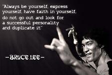 Poster A3 Bruce Lee Citas Motivacionales Motivational Quotes 02