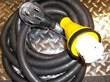15 foot 50 amp Marine RV Power Cord with Hubbell Twist Lock Connector Detachable