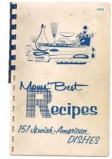 1958 Mom's Best Recipes 151  Jewish American Dishes Cook Book