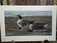 A BREAK IN THE ICE BY R S  RON PARKER CANADA GEESE GOOSE S/N PRINT