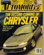 Automobile Magazine June 1992 Issue Dodge Intrepid on the Cover