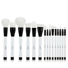 Jessup 15Pcs Pro White Makeup Brushes Cosmetic  Foundation Make Up Brush Set US