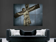 JESUS CHRIST ON THE CROSS POSTER  RELIGION CHURCH FAITH  ART WALL LARGE IMAGE