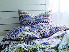 New IKEA King Duvet Quilt Cover 3 pcs Set bedlinen BIRGIT SPETS w/ snaps closure