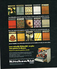 PUBLICITE ADVERTISING 054  1974  KITCHENAID  lave vaisselle