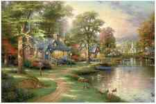 "Jigsaw Puzzles 1000 Pieces ""The Village of River"" / Thomas Kinkade"