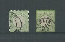 GERMANY 1872 1/2g Mi 17a /b USED