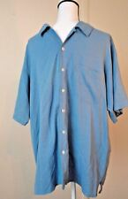 Joseph & Feiss Men's Hawaiian Shirt Blue Size XL 100% Silk