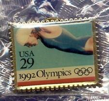USPS United States Postal Service .29 Stamp Shape Olympic Women's Swimming Pin