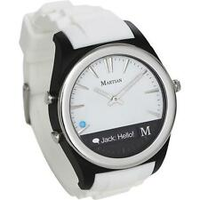 Martian Watches-Notifier Smart Watch for Select Android/Apple® iOS Phones- White