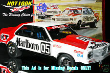 1:18 Vinyl MARLB0R0 Decals Peter Brock 1978 Sandown LX Torana A9X 4 Door Sedan