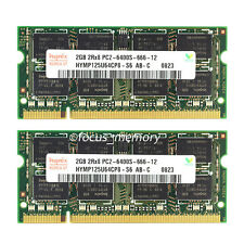 New Hynix 4GB 2X2GB DDR2 PC2-6400 800MHz 200Pin Sodimm Laptop Memory