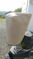 LARGE SIZE TAN Electric Trailer Tongue Jack Cover - TAN SUNBRELLA (LCI etc)